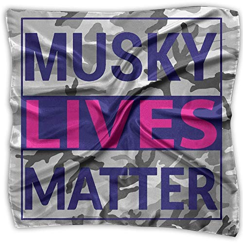 Rghkjlp Musky Lives Matter Fashion Women's Square Scarf 100% Polyester Neckerchief