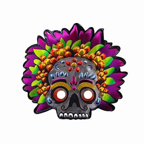 PromMask Masken Gesichtsmaske Gesichtsschutz Domino falsche Front Halloween Make-up Abschlussball männliche Maske Party Kinder Maske Geisterkopf 2
