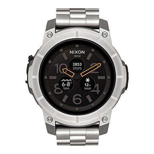 Nixon Mission SS Silver Watch A1216130 Man Steel
