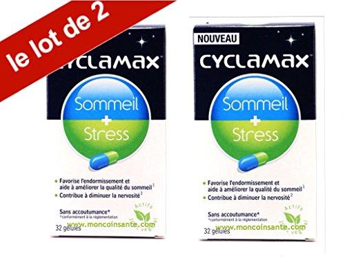 Oméga Pharma - Cyclamax - Sommeil - Bien Être - Stress - Boîte De 32 Gélules - Lot de 2 Boites