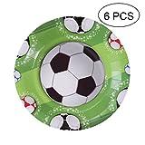 BESTOYARD Papier Teller Premium Papier Platte für Fußball Thema Party Geburtstag Party 2018 FIFA Feiern 6 Stück (7 Zoll)