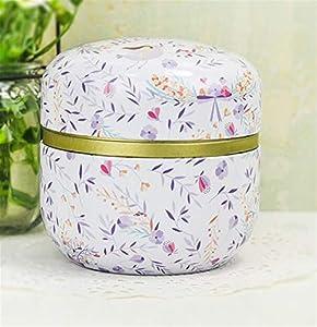 Ustensile Fer-blanc de boîte de stockage de bidon de thé de fer-blanc de cadeau de couvercle portatif Pot