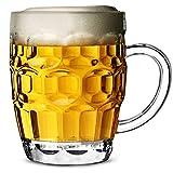 Bierglas Bierkrug Polykarbonat Plastik Mit Vertiefungen CE 568ml - 4-er Set Fassbier Gläser, Pint Glas, Pint Krug