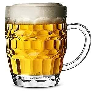 Chope de Bière en plastique polycarbonate CE 568ml - Lot de 4 pintes