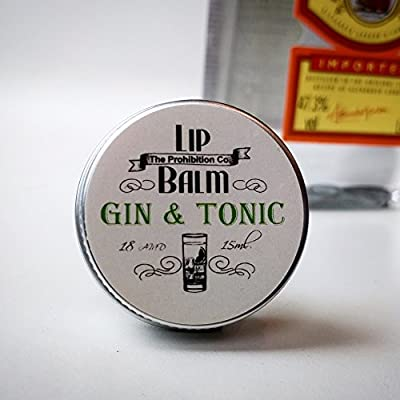 Gin & Tonic Lip Balm by The Prohibition Co. 15ml Tin from Half Ounce Cosmetics