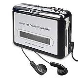 Kassettenspieler-Kassette zu MP3 / CD-Recorder über USB Tragbarer Kassettenkonverter Wandelt Walkman-Kassette in Digitales Format um Kompatibel mit Mac und PC