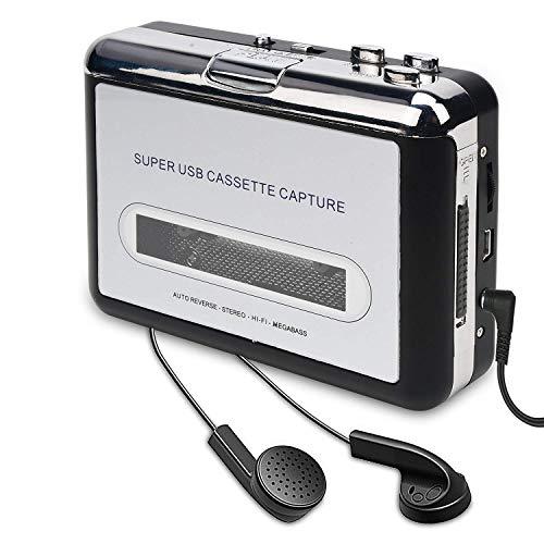 DAN&DLAM Tape Converter USB-Port Tragbarer Kassettenspieler Konvertiert In Digitales Format Mp3 / CD-Brenner Kompatibel Mit Mac Und Pc