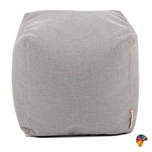 Arketicom Soft Cube Suave Puf sillón Saco Cuadrado reposapiés extraíble Diseño Moderno de salón Relleno Bolas poliestireno Forro Interior extraíble (Cab Puff Puf) práctico Ligero