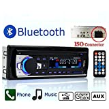 Bluetooth Radio de coche,Single-Din Autoradio Auto Estéreo Vídeo FM Radio,Reproductor de mp3 USB/SD/AUX Manos libres con control remoto