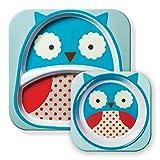 Skip Hop Zoo Melamine Set  Kinderteller Und Breischale Owl