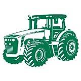 Wandtattoo Trecker Traktor in 8 Größen und 20 Farben (30x21cm grün)