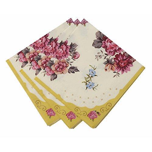 Talking Tables Truly Scrumptious Serviettes en Papier Fleuries pour Anniversaire, Goûter Festif, Mariage et Festivités, Multicolore (Paquet de 30)