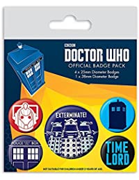 "Set de 5 botones decorativos ""Doctor Who"""