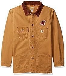 NCAA Washington State Cougars Men's Weathered Chore Coat, X-Large Tall