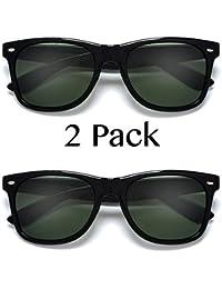 UV Ray Protection Black G-15 Polarized Sunglasses 2 Pack