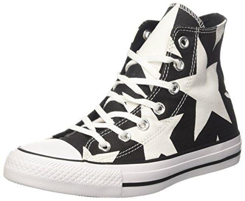 Converse 156811c, Sneaker a Collo Alto Donna Nero (Black/White/White)