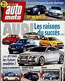 ACTION AUTO MOTO [No 156] du 01/06/2008 - AUDI - LES RAISONS DU SUCCES - TOUS LES FUTURS MODELES - NISSAN GT-R - PORSCHE 911 - PEUGEOT 308 W - BMW X6 RENAULT KANGOO ET CITROEN BERLINGO