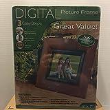"Digital Picture Frame 5.6"" Wood Finish"