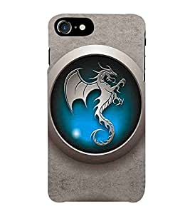 For Apple iPhone 7 beautiful icon ( icon,animal,dragon,steel icon,beautiful icon ) Printed Designer Back Case Cover By Awwsme