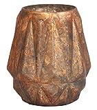 Light & Living 6160610 Evora Teelicht Glas Ø 11 cm matt antik kupfer