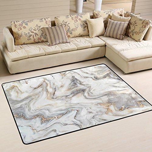 4x6 Bereich Teppich Matte (Naanle Marmor Rutschfeste Bereich Teppich für Dinning Wohnzimmer Schlafzimmer Küche, 50x 80cm (7x 2,6m), abstrakte Marmor Kinderzimmer-Teppich, Teppich Yoga-Matte, Multi, 120 x 180 cm(4' x 6'))
