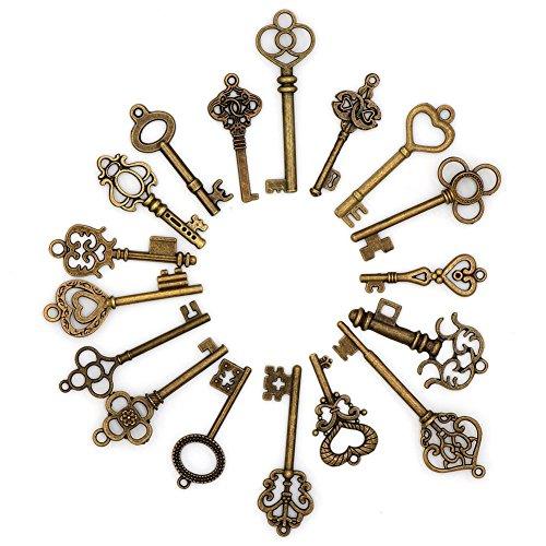 12 Stück Schlüssel für Einladungen, Erinnerungen, Scrapbooking, Hochzeitsdekoration, Taufe, Geburtstag ...für Einladungen @s Party, Aufmerksamkeit Hochzeit, Geschenke oder Details, Ketten oder Anhänger, Schaufenster-Handwerk von CHIPHOME
