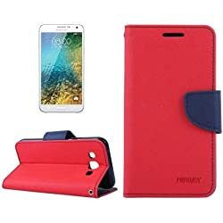 Mercury synthetic leather Wallet Magnet Design Flip Case Cover for Samsung Galaxy Grand 2 G7102 G7106 - Red Blue