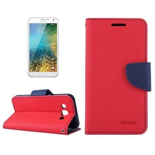 Storeaturdoor Synthetic Leather Wallet Magnet Case Cover For Samsung Galaxy J7 J700F Red Blue