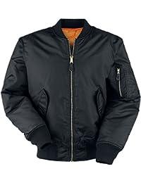Brandit Mens Jacket MA1, Farbe:schwarz;Größe:4XL