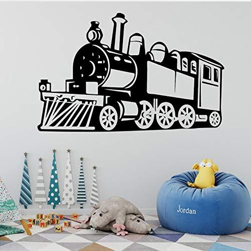 Tianpengyuanshuai Train à Vapeur Sticker Mural Amovible Sticker Train Sticker Mural décoration Salon Chambre d'enfant garçon30x47cm