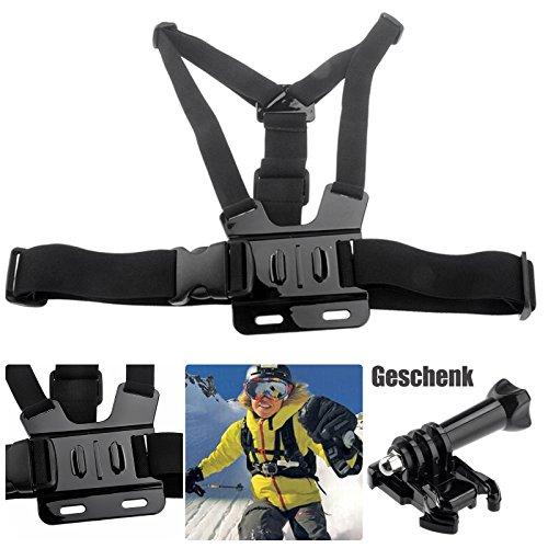 Brustgurt Halterung Chest Mount Strap Belt Harness für Sportkameras Brust Gurt Halter Halterung für GoPro Hero 1 2 3 3+ 4/ SJCAM SJ4000/ QUMOX SJ4000 SJ5000/ xiaomi Yi/ Aktion Kamera Camcorder