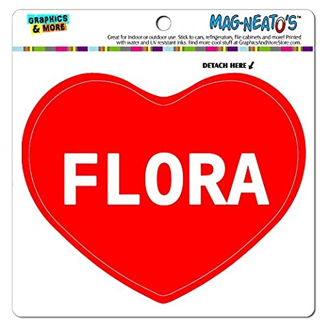 MAG-NEATO'S(TM) Car Refrigerator Vinyl Magnet I Love Heart Names Female