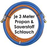 Propan Sauerstoff Gasschlauch Zwillingsschlauch 3 Meter - Semperit Profi Gummischlauch zum autogen schweißen oder schneiden - Semperit Profiqualität von Gase Dopp
