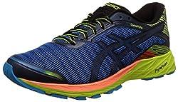Asics Mens Dynaflyte Poseidon, Black and Safety Yellow Running Shoes - 11 UK/India (46.5 EU)(12 US)