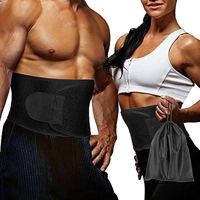 Waist Trimmer Belt for Weight Loss with Carrying Bag, Waist Trainer - Adjustable Fat Burner Waist Slimming Belt Ab Sauna Belt for Women and Men Belly Abdominal Training Sweat Belt Gym Support from DIOSN