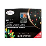 The Christmas Workshop 80 Ultra Bright LED Candle Chaser Lights - Multi-Coloured (Outdoor Use Only)