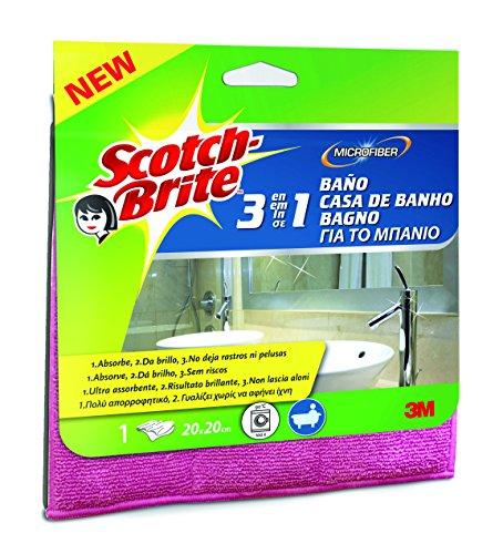 Scotch-Brite 47658 Panno Microfibra Bagno, Rosa