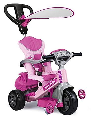 Feber - 800009781 - Tricycle - Evolutif Baby Twist 360° Girl - Rose