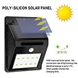 #4: Solar Wireless Security Motion Sensor Night Light - 10 LEDs Bright and Waterproof for Outdoor/Garden Wall (10 LED)