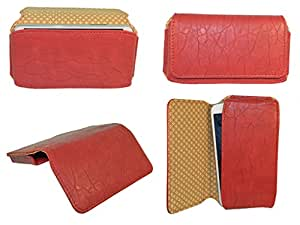 Generic Premium Leather Fabric Hand Pouch for - Acer Liquid S1 - Red - HDPRD60#0017DR