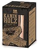 L.A. Garden Premium Kaminholz 10kg, Buchenholz ofenfertig kammergetrocknet – gespaltene Buche Holzscheite mit Anzündholz, Kantholz für den offenen Kamin, Ofen und Feuerschale – hoher Brennwert
