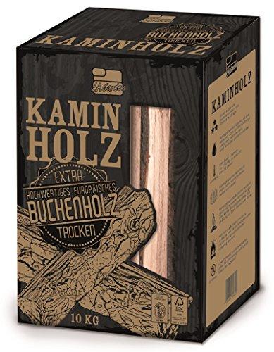 L.A. Garden Premium Kaminholz 10kg, Buchenholz ofenfertig kammergetrocknet - gespaltene Buche Holzscheite mit Anzündholz, Kantholz für den offenen Kamin, Ofen und Feuerschale - hoher Brennwert - Den Für Kamin Holzscheite