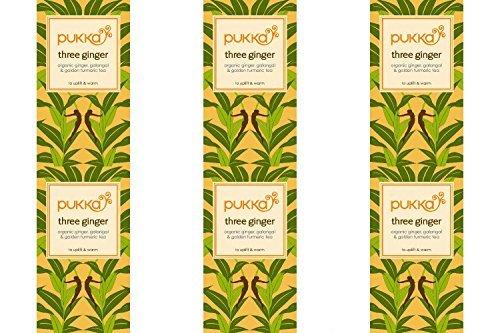(6 PACK) - Pukka Herbs - Triple Ginger Tea | 20 sachet | 6 PACK BUNDLE by Pukka