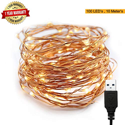 XERGY 10 m 100 LED's Waterproof Fairy Decorative String Light USB Powered...