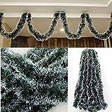 5Qty Garland Ribbon String For Xmas Tree Hanging Ornament Decoration| Christmas Tree Snow Ribbon