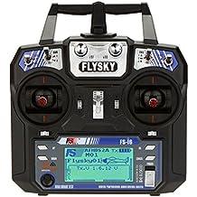 Goolsky FlySky FS-I6 2.4G Sistema de control remoto de 6 canales FS i6 2.4G 6ch Transmisor con receptor FS-iA6 para helicóptero RC Multirotor 250 Quadcopter Racing Drone Airplane Dia