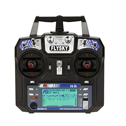 FlySky FS-I6 2.4G 6-Kanal Fernbedienung System FS i6 2.4g 6ch Sender mit FS-iA6 Empfänger für RC Helikopter Multirotor 250 Quadcopter Racing Drohne Flugzeug Dia (ab Lager Deutschland)