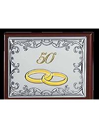 Caja Joyero 50 ° aniversario bodas GBG Linea Seven cm 11 x 16 x 4,