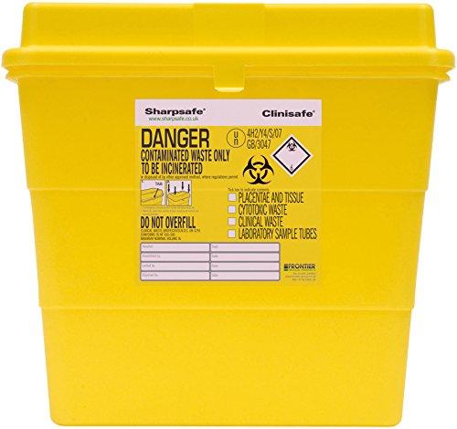 Sharpsafe Behälter für fhshar37mannigfaltigkeit für Lab Krankenhaus, Kapazität 9L, 291mm Höhe x 292mm Nadel Länge x 195mm Breite, Gelb (20Stück)
