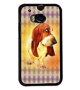 PRINTVISA The Dog Premium Metallic Insert Back Case Cover for HTC One M8 - D6023